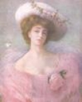 Lady with Pink Organza