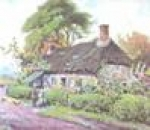 Cottage with Hedge