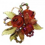 Rose Bouquet Brooch