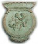 Round Jardiniere with Cherubs