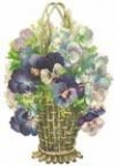 Pansy Wicker Basket