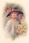 Lady Holding Daffodils